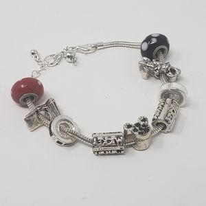 Disney Silver Colored Charm Bracelet